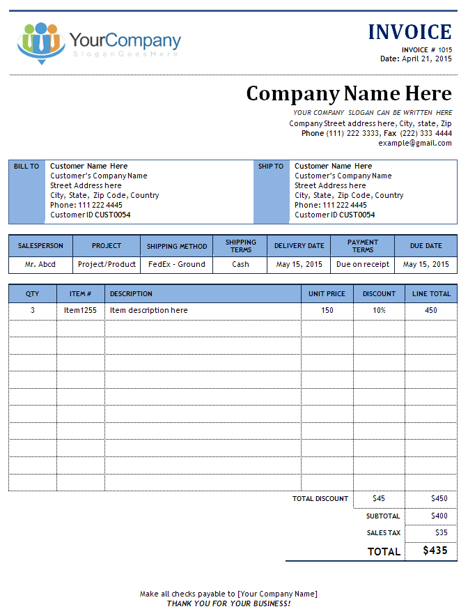 free invoice template with beautiful layout design