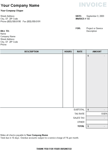 download invoice template nz – notators, Invoice templates