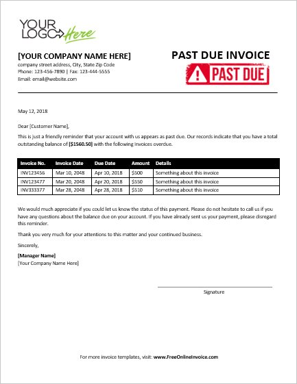free professional past due invoice sales invoices invoice templates